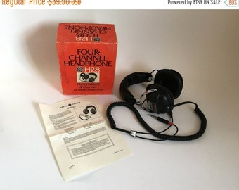 Sale - Vintage 1970's GE General Electric H-28 Four Channel Stereo Headphones in Box