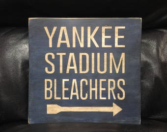 Yankee stadium etsy yankee stadium sign new york yankees baseball sign handmade wood sign boys malvernweather Image collections