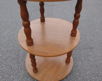Vintage Three Tiered Wooden/Laminate Table/1970's/End Table/Side Table