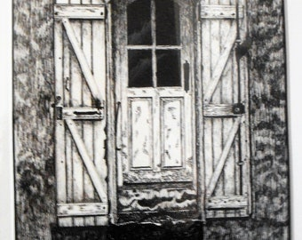 Door #7 - Original Pen & Ink Drawing