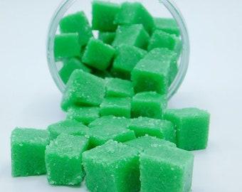 Green Clover & Aloe Sugar Scrub Cubes, Mens Sugar Scrub
