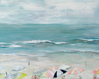 Silver Sands, 8.5x11 Signed Print of Original Painting in 11x14 mat