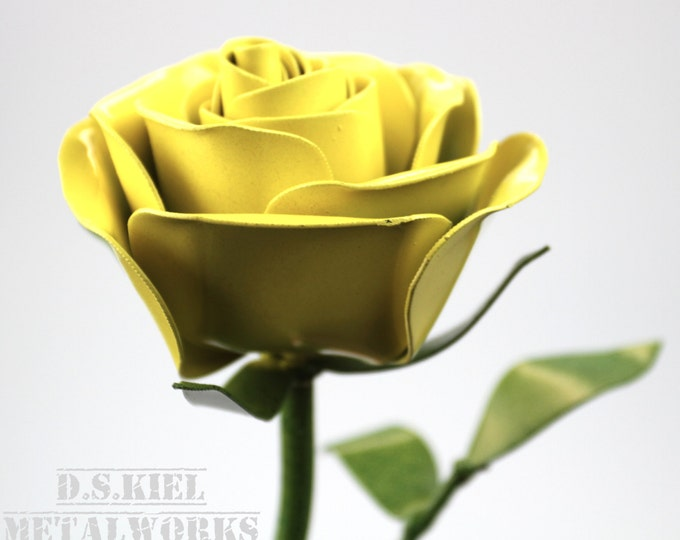 Long stem metal roses dskiel metalworks mothers day gift mothers day present metal long stem yellow rose metal rose mightylinksfo