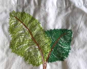 Leaves Handmade Canvas Bag