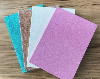 Glam Glitter Covered Notebooks, A5 Lined