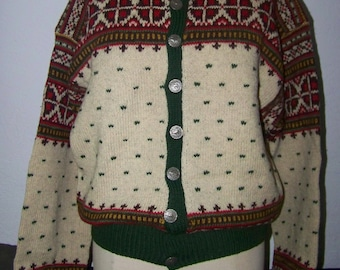 Vintage Steen & Strom Hand Knit Wool Sweater Norwegian Great Colors