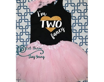 I'm Two Fancy. second birthday shirt, Two Fancy birthday shirt, 2 Years Old two and cute second Birthday Shirt 2nd Birthday Shirt