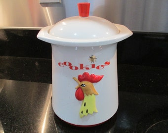 Holt Howard Cookie Jar 1961 JUST  REDUCED / Mid Century Howard Holt/ Ceramic Cookie Jar/Rooster Cookie Jar/ By Gatormom13