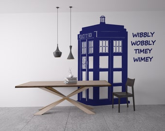 Tardis-Wibbly Wobbly Timey Wimey wall graphic Var#2