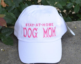 Dog Mom Baseball Cap with Paw Prints  | Best Custom Gifts by Three Spoiled Dogs