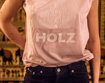 HOLZ ORIGINAL T-Shirt Light Pink, Size: M