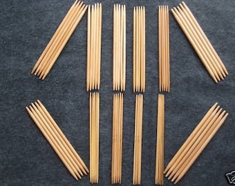 55 needles total !! 5 inch double pointed point Bamboo Knitting Needles DPN