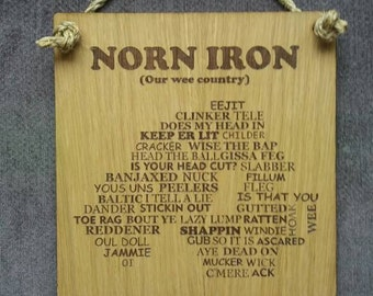 Norn Iron oak wall plaque