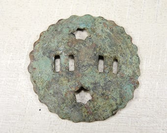 Antique Huge Brass Button - Archaeological Finds - b6