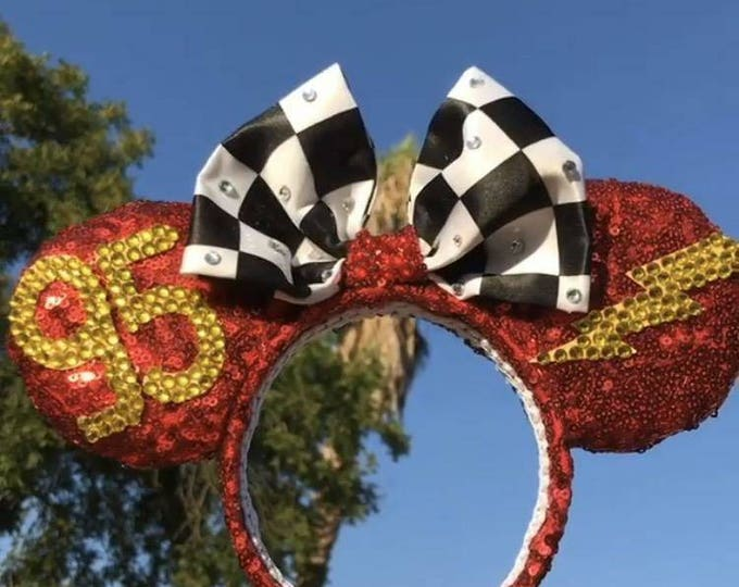 Cars Lightning McQueen Sequin Minnie ears
