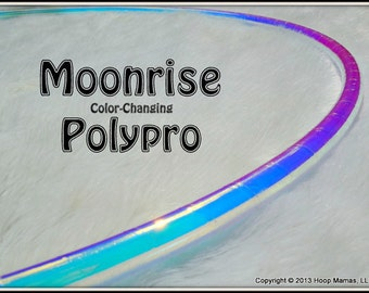 "CoLoR-CHaNGiNG Polypro Hula Hoop 'MOONRiSE' in 3/4"" OD and 5/8"" OD Polypro!  // Free Inside Grip Option // Pro Hoops with Over 30,000 Sold!"