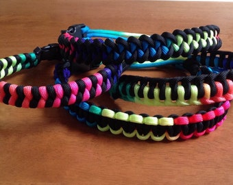 Lot of 3 Paracord Rainbow Handles (Your choice of style weave)
