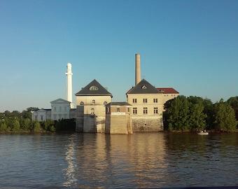 Louisville, KY  1937 Flood Crest on Ohio River Stock Photo