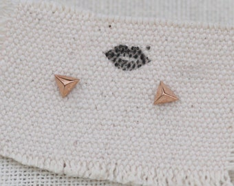 tiny triangle earrings, triangle earring stud, triangle earrings gold, simple triangle earrings, triangle stud earrings