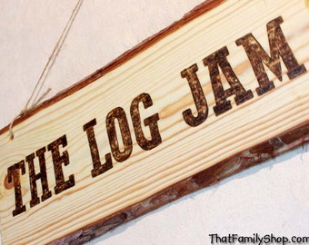 RUSTIC SIGN Wall Decor Living Room Rustic Sign Wood-Burned Custom Plaque Names Rustic Cabin Personalized Gift for Him