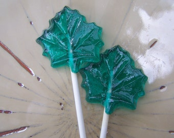 10 Maple Leaf Leaves Lollipops Suckers Party Favors Fall Autumn