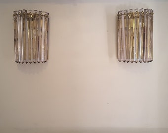 A set of 2 Murano Camer sconces
