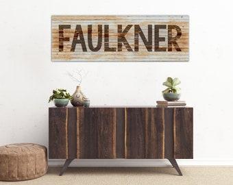 Name Wall Art, Family Name Wall Art, Last Name Wall Art, Rustic Name