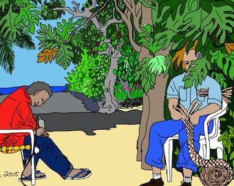 Cayman Digital Art 'Workin in a da yard'