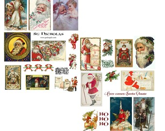 St. Nicholas Digital Collage Set