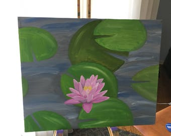 Water Lilly Original Oil Painting