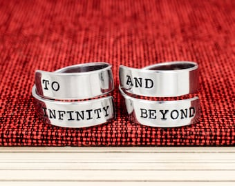 To Infinity and Beyond Twist Ring Set - Valentines Day Gift