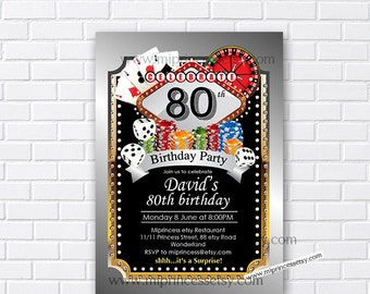 Casino party, birthday invitation, gambling, adult game, casino night, poker birthday, casino, Slot machine, jackpot, casino, card 544