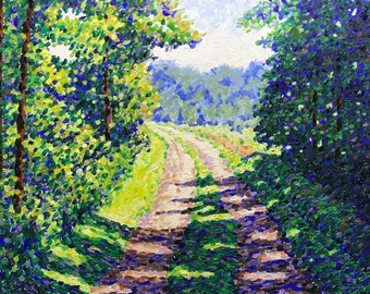"""Original Impressionist landscape oil painting """"Out Of The Shadows"""" 18x24"""