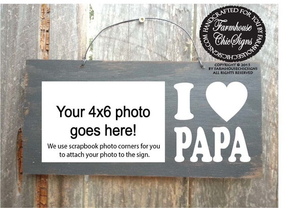 papa, papa gifts, gifts for papa, papa sign, papa picture frame ...