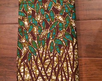 Green and Brown african print head wrap - brown and green African print hair wrap- green hair wrap