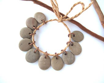 Rock Charms Beach Stone Beads Small Pebble Beads Jewelry Findings Mediterranean River Rock Beads Pairs Copper COOL MIX 17-18 mm