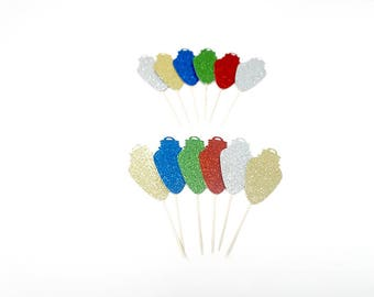 HOLLA DAY LIGHTS Cupcake Toppers