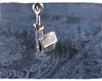 Silver Church Necklace - Sterling Silver Church Charm on a Delicate Sterling Silver Cable Chain or Charm Only
