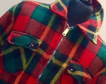 1960s HUNTING WOOL Flanell Vintage Made in U.S.A Jacket