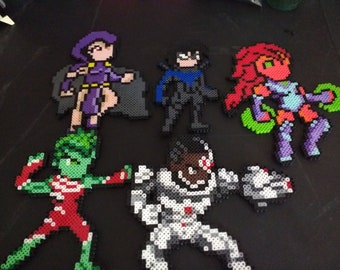 Teen Titans Perlers-Set of 5