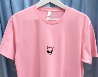 Devil Alien Screen Printed T Shirt