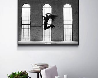 Black and White Print, Black & White Wall Decor, Living Room Decor, Contemporary Photography Gift, Modern Art Poster, Dorm Decor, Boys Room