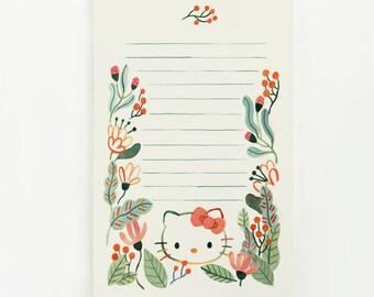 Hello Kitty Garden Notepad