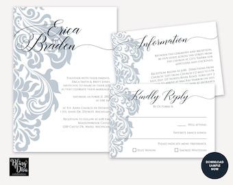 Filigree Wedding Invitation SAMPLE