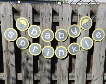 Baby Sprinkle Banner | Baby Shower Banner | Glitter Baby Sprinkle Banner | Glitter Baby Shower Banner