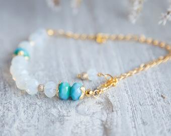 Opalite Gold Bracelet, Boho Opalite Bracelet, Opalite Jewelry, Bracelet Fantaisie, Bracelet d'opale, Opalit Armband, Boho Armband, Bijoux