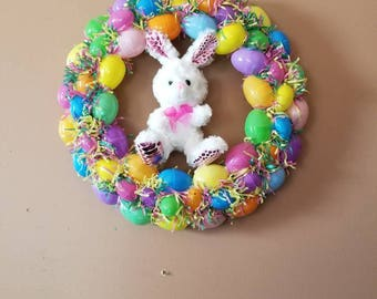 Custom and Handmade Easter Egg Bunny Wreath Decoration