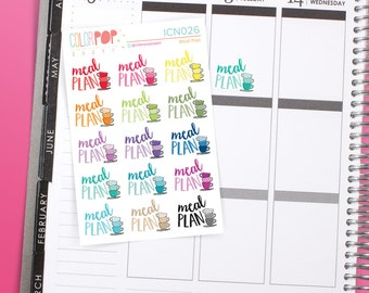 Meal Planning, Meal Planning Stickers, Meal Plan - ICN026