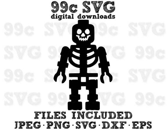 lego skeleton svg dxf png vector cut file cricut design