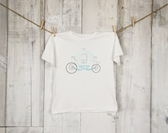 Royals Princess Cinderella Carriage Sketch Embroidered Shirt, Disney, Vacation Shirt